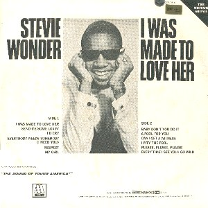 Stevie Wonder - I was Made to Love Her back cover
